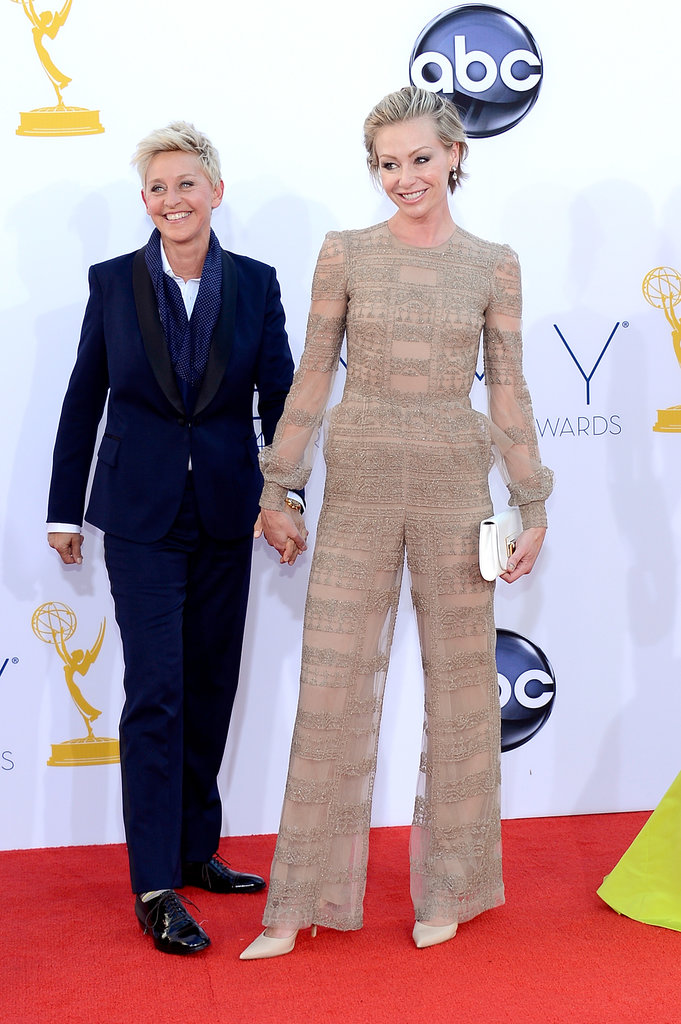 Ellen DeGeneres and Portia de Rossi held hands on the red carpet in 2012.