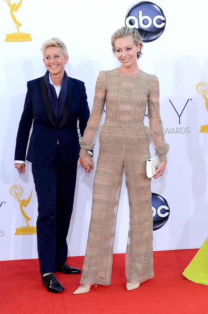 Ellen DeGeneres and Portia de Rossi held hands on the red carpet in 2012.