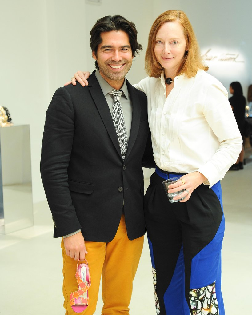At Brian Atwood's Spring presentation, stylish friends like Anne Christensen came out in support.