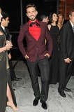 Lorenzo Martone made the rounds at the Brazil Foundation's gala in a berry suit.