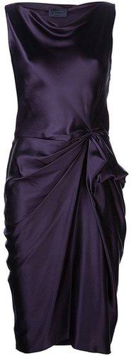 Lanvin sleeveless drape dress