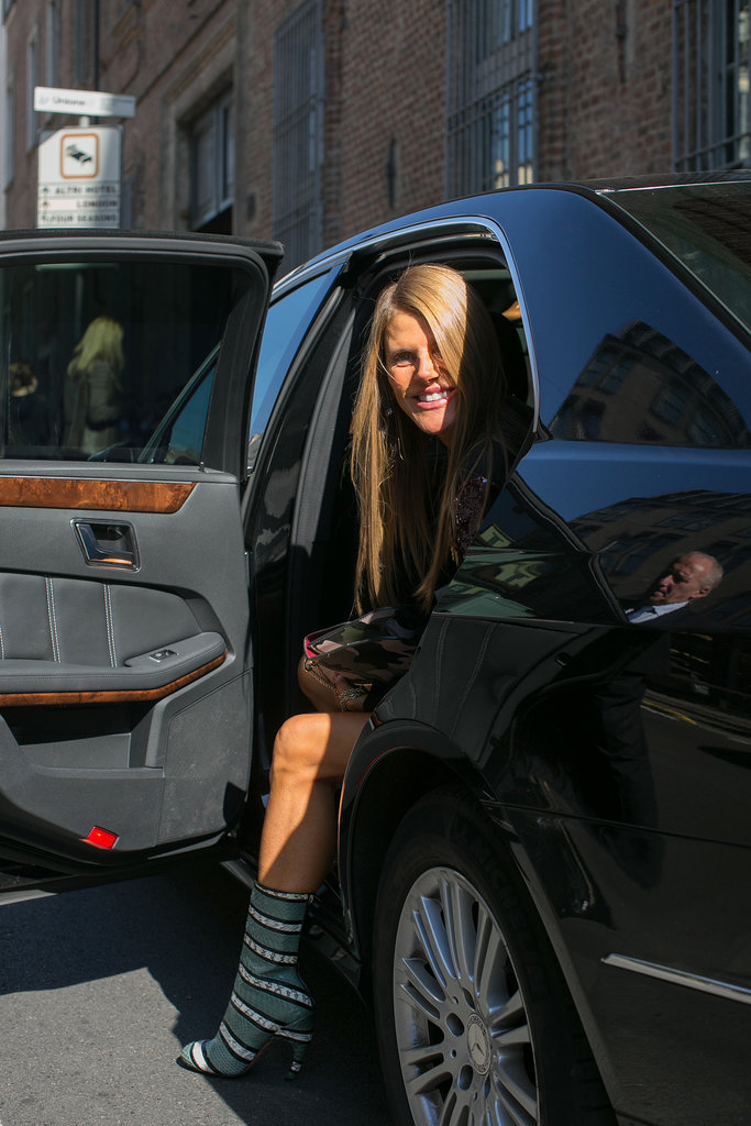 We spy Anna Dello Russo — and some fierce footwear.