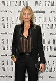 Kate Moss attended the Stuart Weitzman flagship store opening in Milan, Italy.
