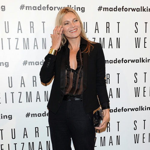 Kate Moss at Stuart Weitzman Store Opening in Milan