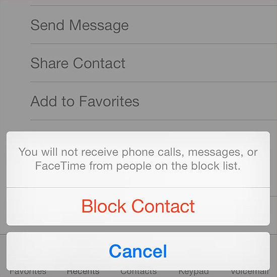 how to block a number on iphone popsugar tech. Black Bedroom Furniture Sets. Home Design Ideas