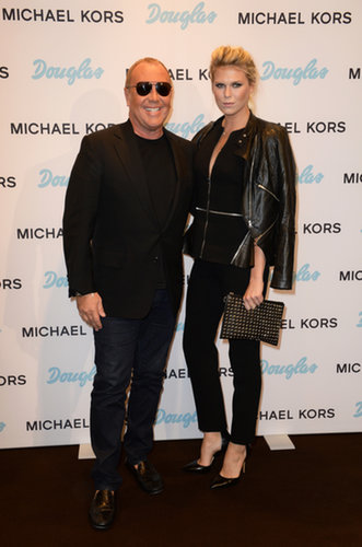 Alexandra Richards joined Michael Kors at the designer's beauty launch at Douglas.
