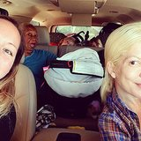 Tori Spelling headed out on a cross-country road trip with her friend, her baby nurse, and her four kids! Source: Instagram user torianddean
