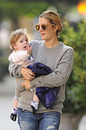 Drew Barrymore carried her daughter, Olive Kopelman.