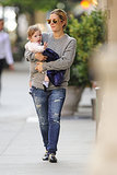 Drew Barrymore carried Olive Kopelman in NYC.