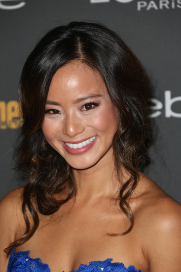 We love this piecey, undone look for Jamie Chung at Entertainment Weekly's pre-Emmys party.