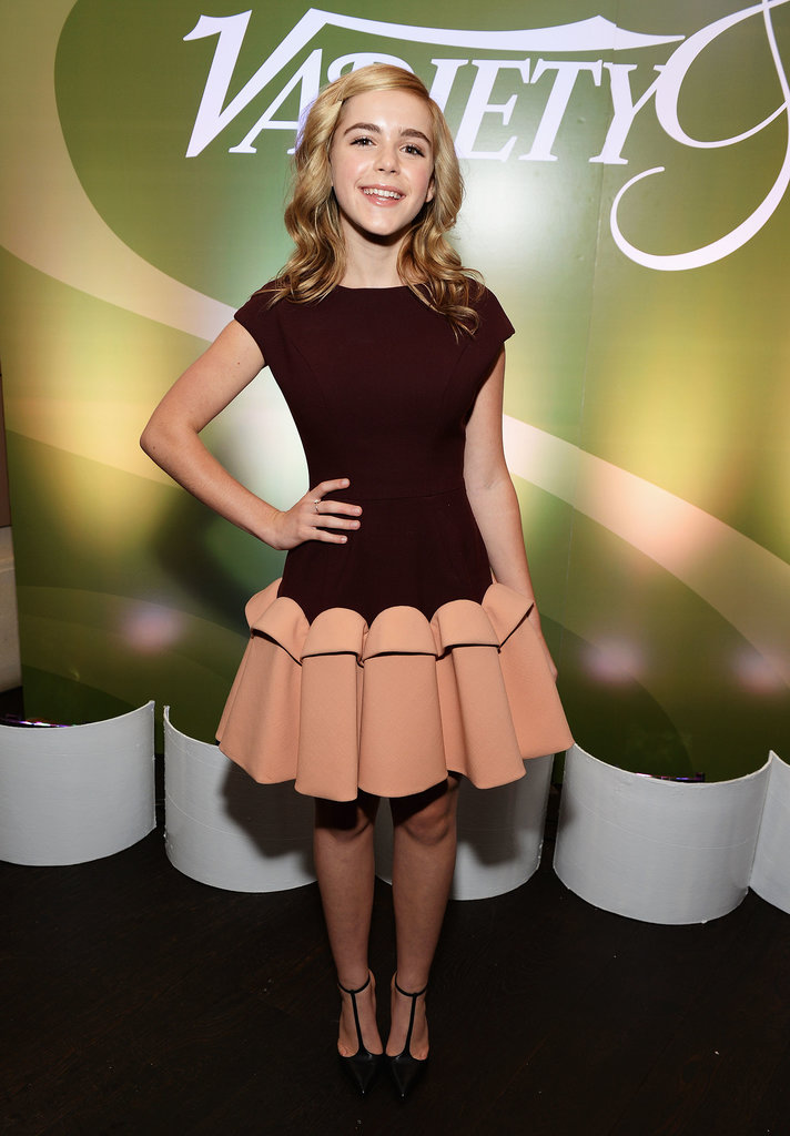 Kiernan Shipka's fit-and-flare Delpozo dress was simply adorable at the Variety and Women in Film pre-Emmys event in LA.