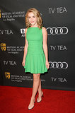 Kiernan Shipka went for a green look.