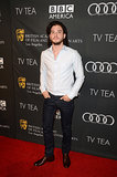Kit Harington posed for photos.