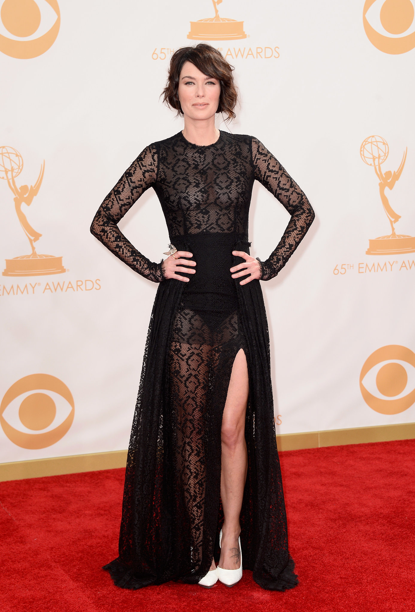 Game of Thrones actress Lena Headey struck a pose on the red carpet.
