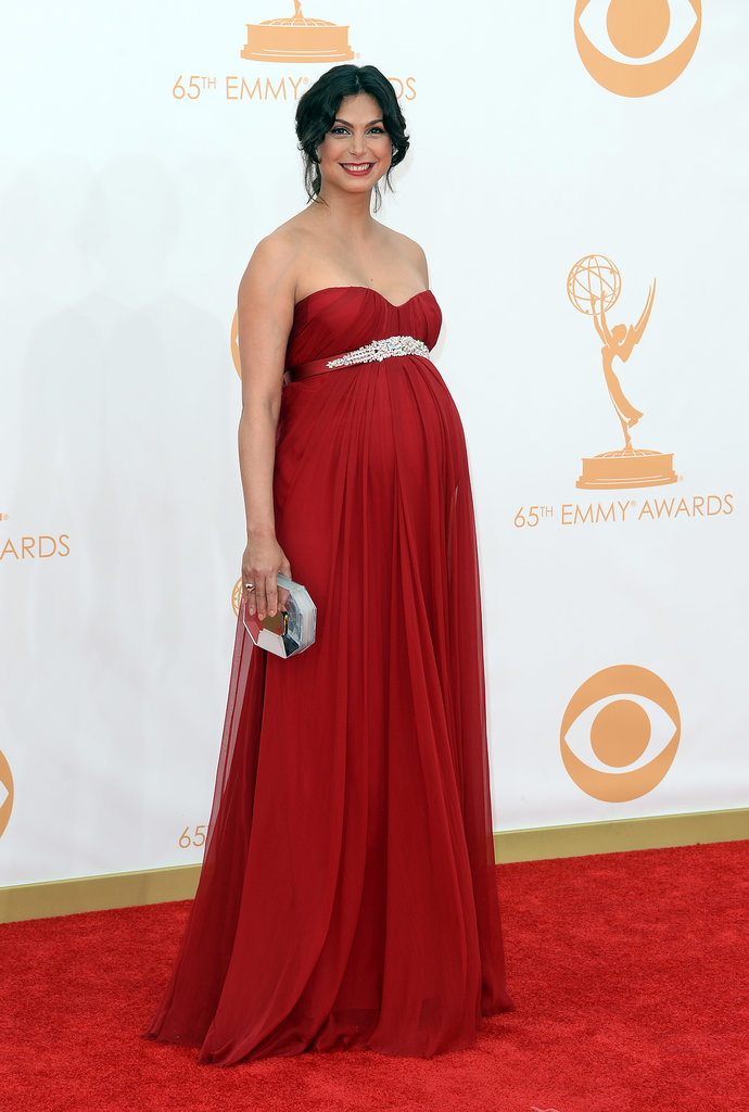 A pregnant Morena Baccarin accented her status with an empire-waist gown.
