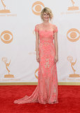 A coral lace Naeem Khan dress from Spring 2014 was the ticket for Laura Dern.