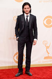 Game of Thrones star Kit Harington smoldered on the Emmys red carpet.