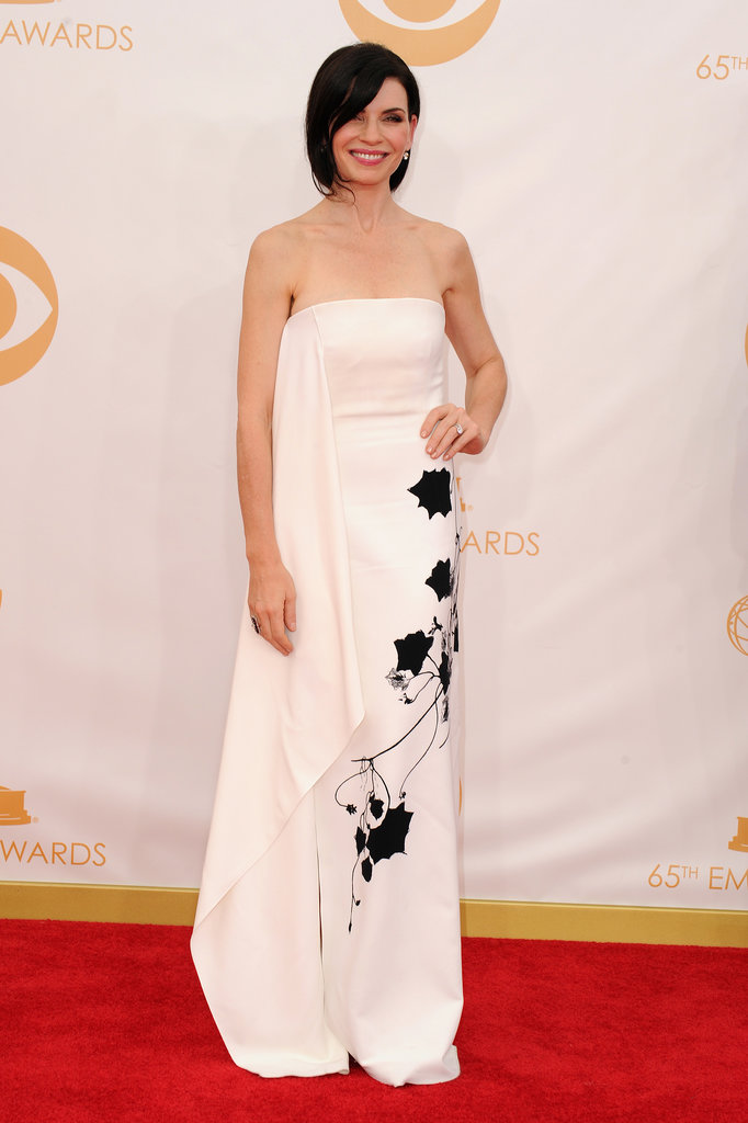 Julianna Margulies did floral, albeit in a graphic black-and-white variety.