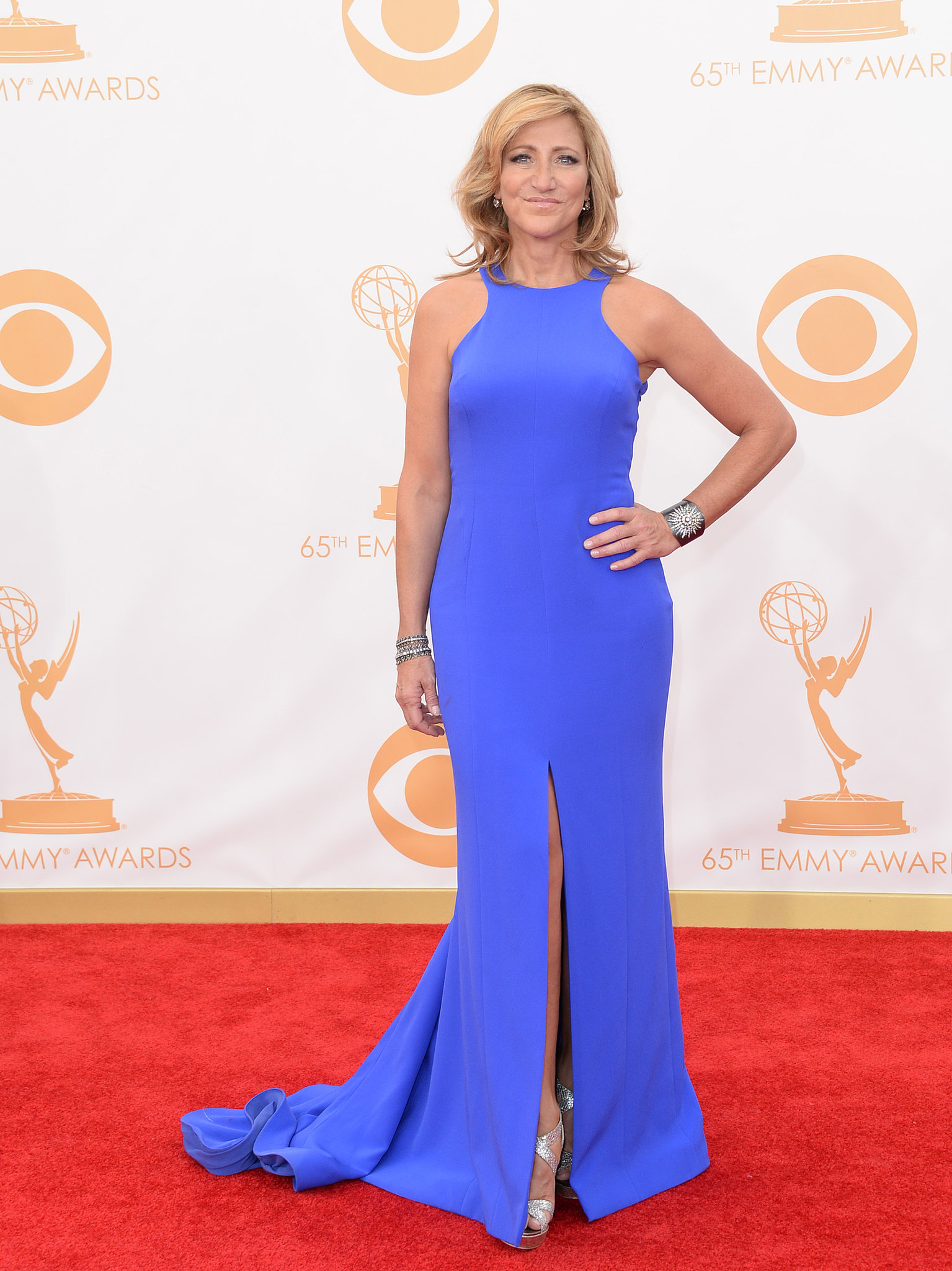 Edie Falco attended the 2013 Emmys.