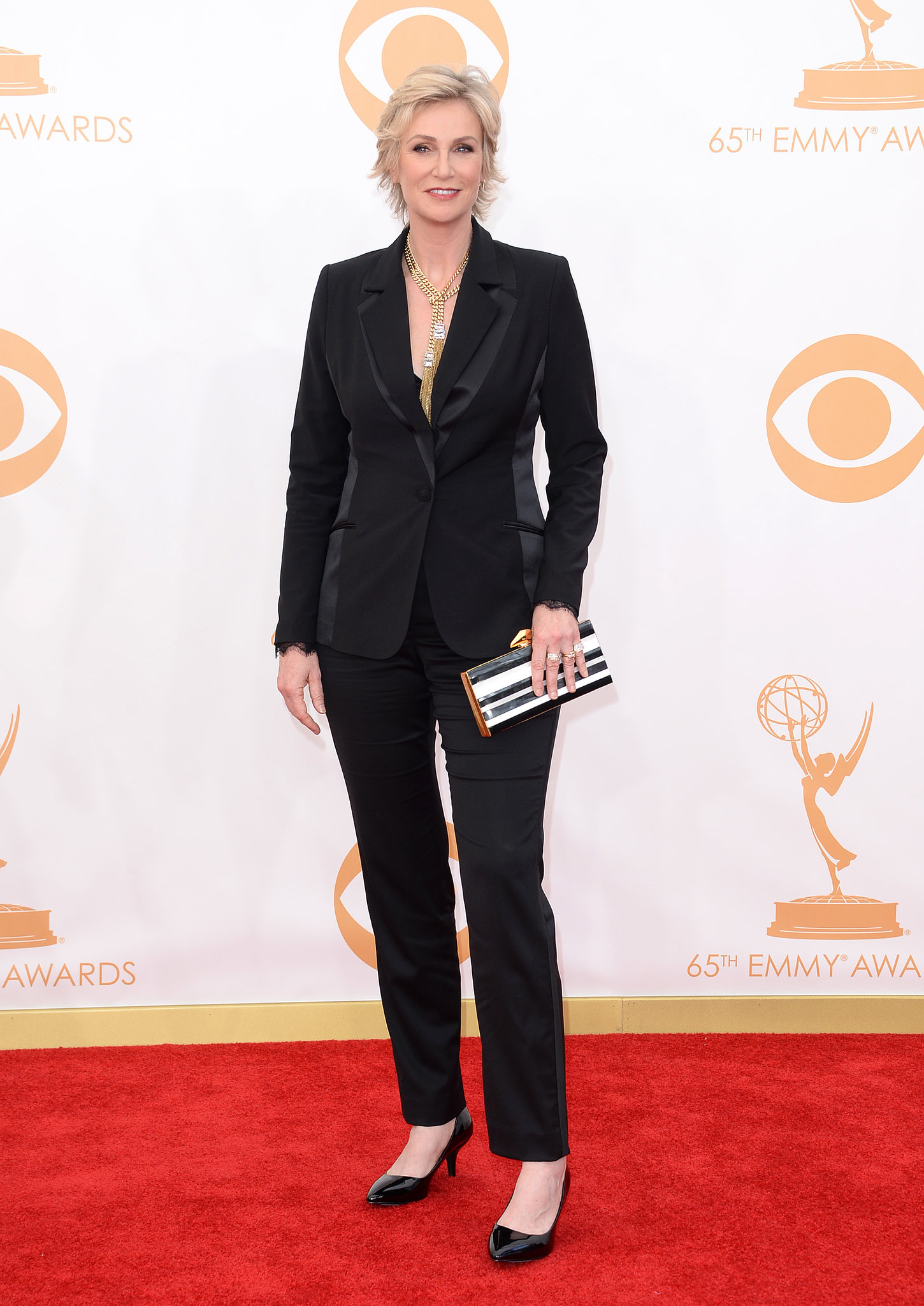 Jane Lynch attended the 2013 Emmy Awards.