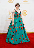Lena Dunham wore a Prada dress.