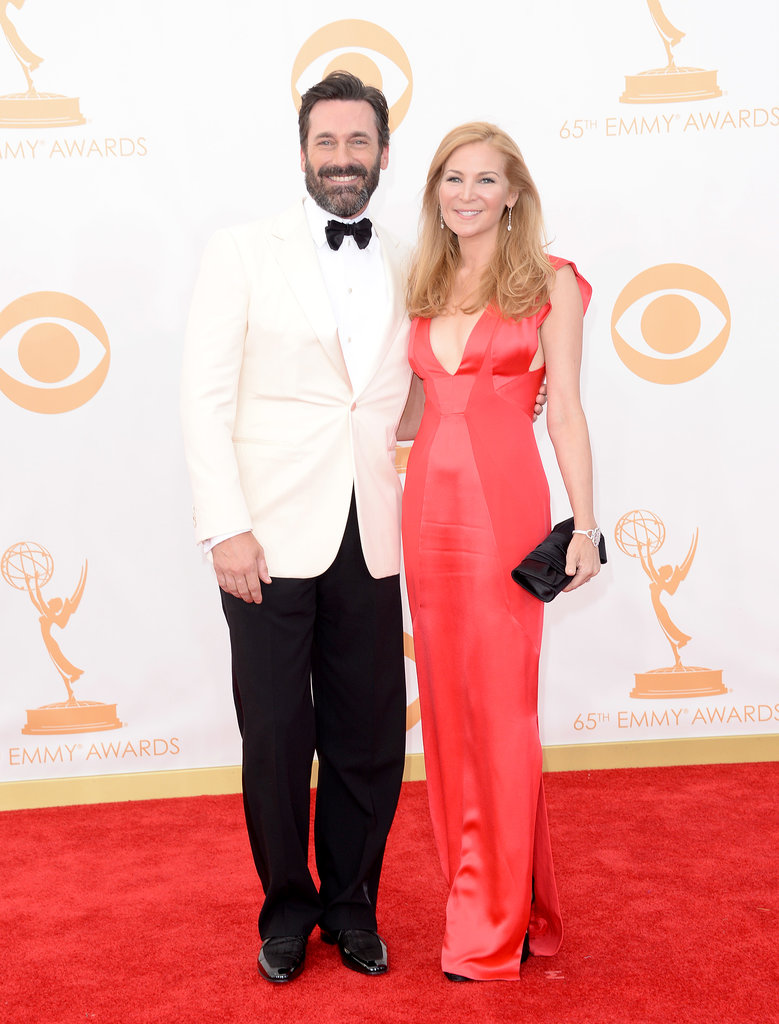 Jon Hamm and Jennifer Westfeldt stepped out for the 2013 Emmy Awards.