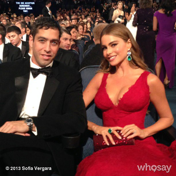 Sofia Vergara sat front row with her fiancé, Nick Loeb. Source: Sofia Vergara on WhoSay