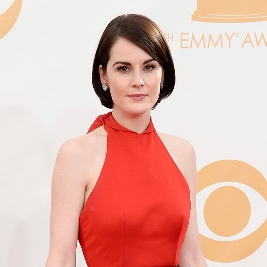 Michelle Dockery's Red Prada Does Anything But Blend In