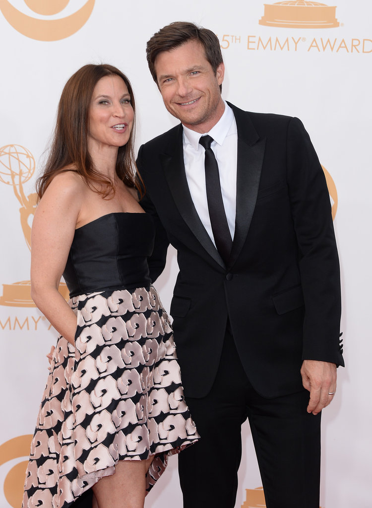 Jason Bateman and his wife, Amanda Anka, hit the Emmys red carpet together.