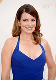It looks like Tina Fey touched up her highlights before she took a stroll down the Emmys red carpet.