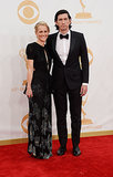 Girls star Adam Driver suited up for the Emmys and walked the red carpet with his wife, Joanne Tucker.