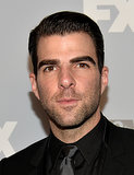 Zachary Quinto made an appearance at Fox's Emmys afterparty.