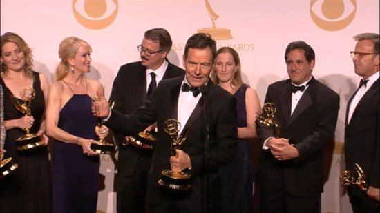 "Breaking Bad Cast Celebrates Backstage With Their ""Emmys, B*tch!"""