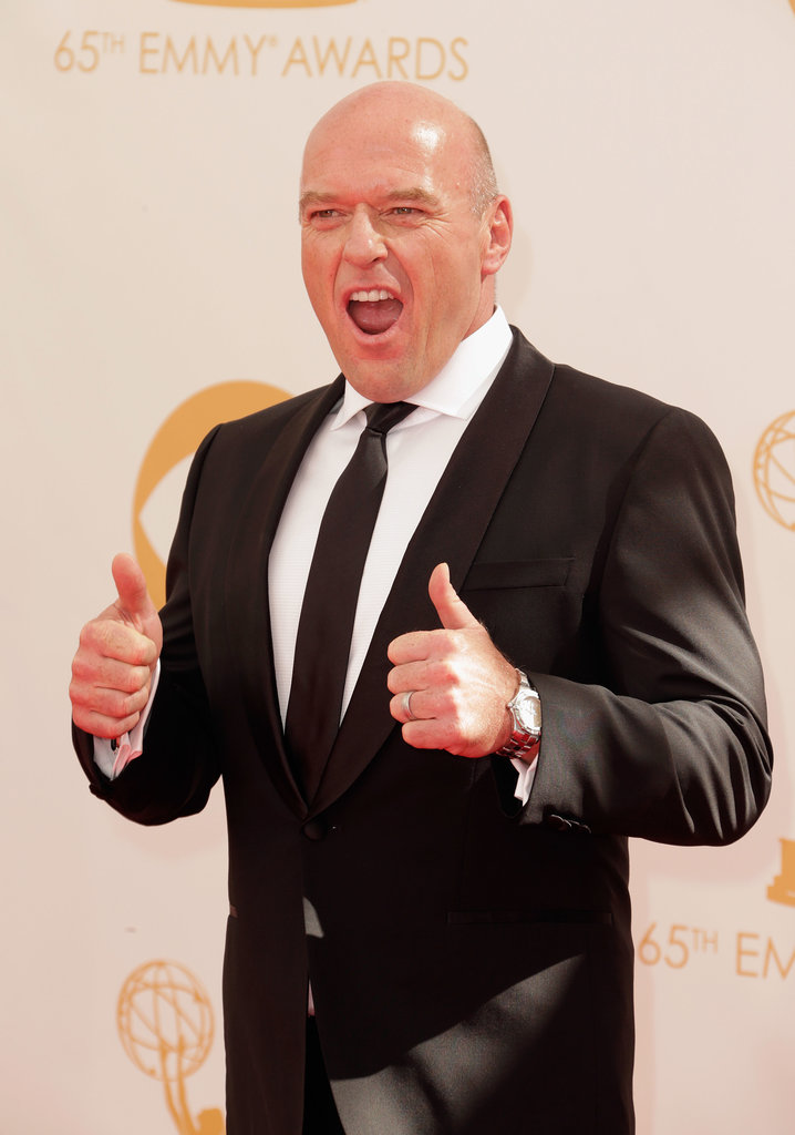 Dean Norris gave the photographers the double thumbs up.