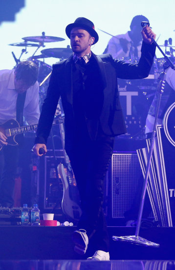 Justin Timberlake performed on Saturday.