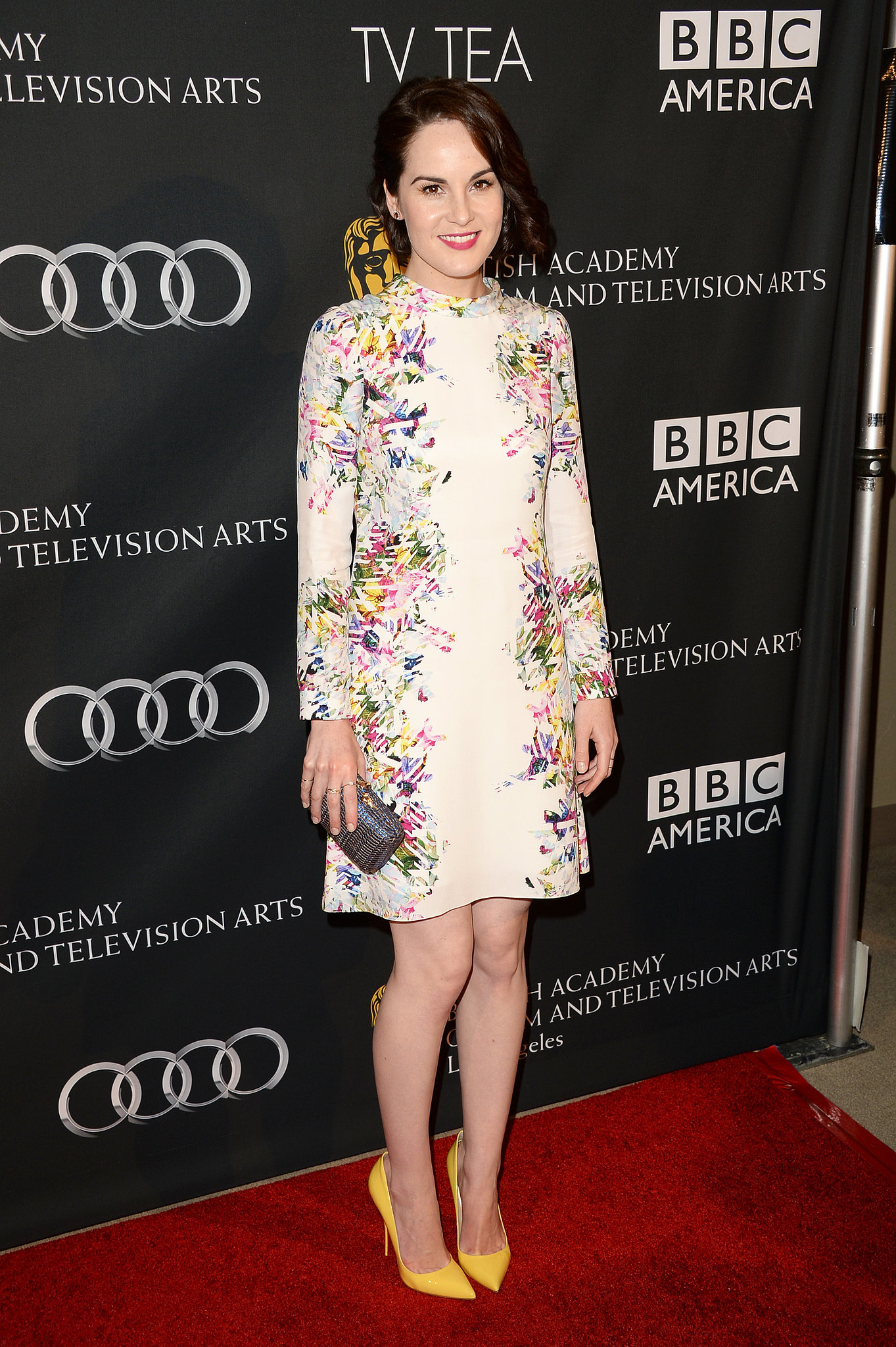 Michelle Dockery also chose a floral Erdem dress for the BAFTA LA TV