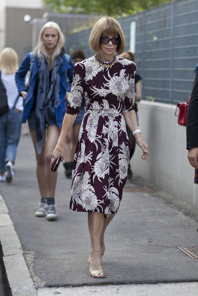 Anna Wintour is forever proving the power of a bold print.