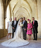 Prince Félix of Luxembourg and his bride, Claire Lademacher, took a picture with their parents after the wedding.