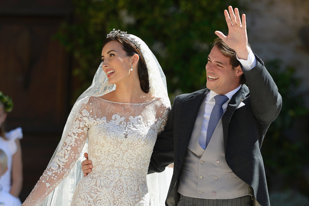 Prince Félix of Luxembourg gave a wave alongside his new bride.