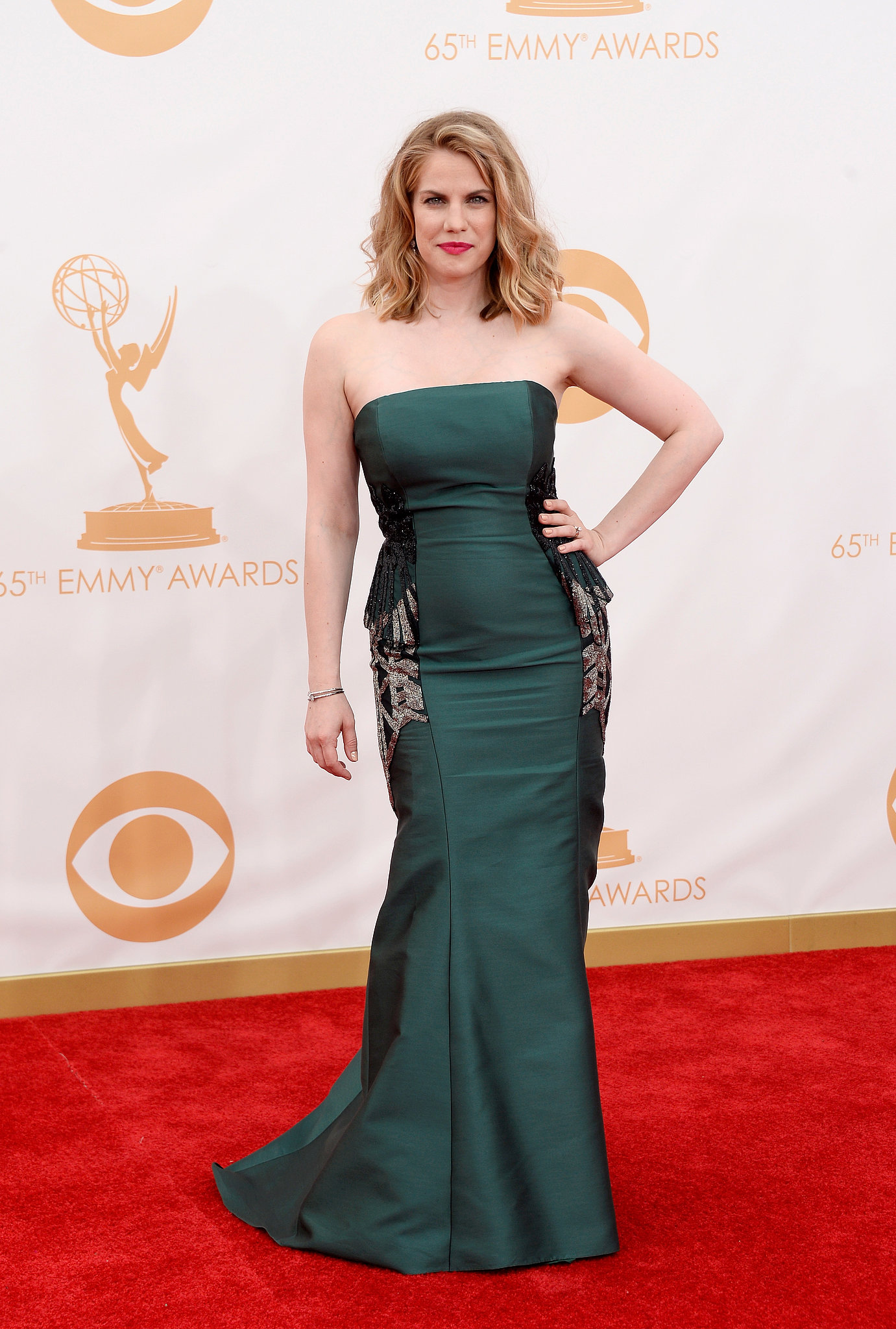 Veep's Anna Chlumsky stepped out for the 2013 Emmys.