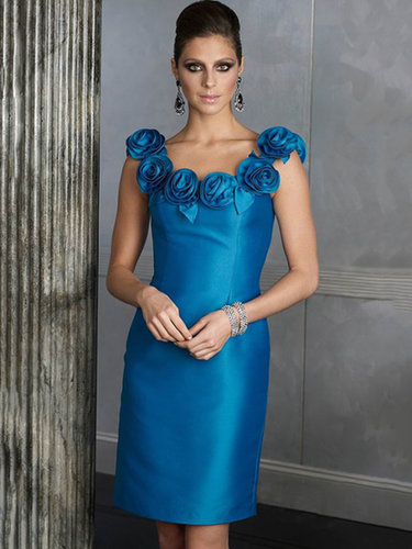 Sheath/Column Scoop Taffeta Short/Mini Sleeveless Ruched Cocktail Dresses at dressestylish