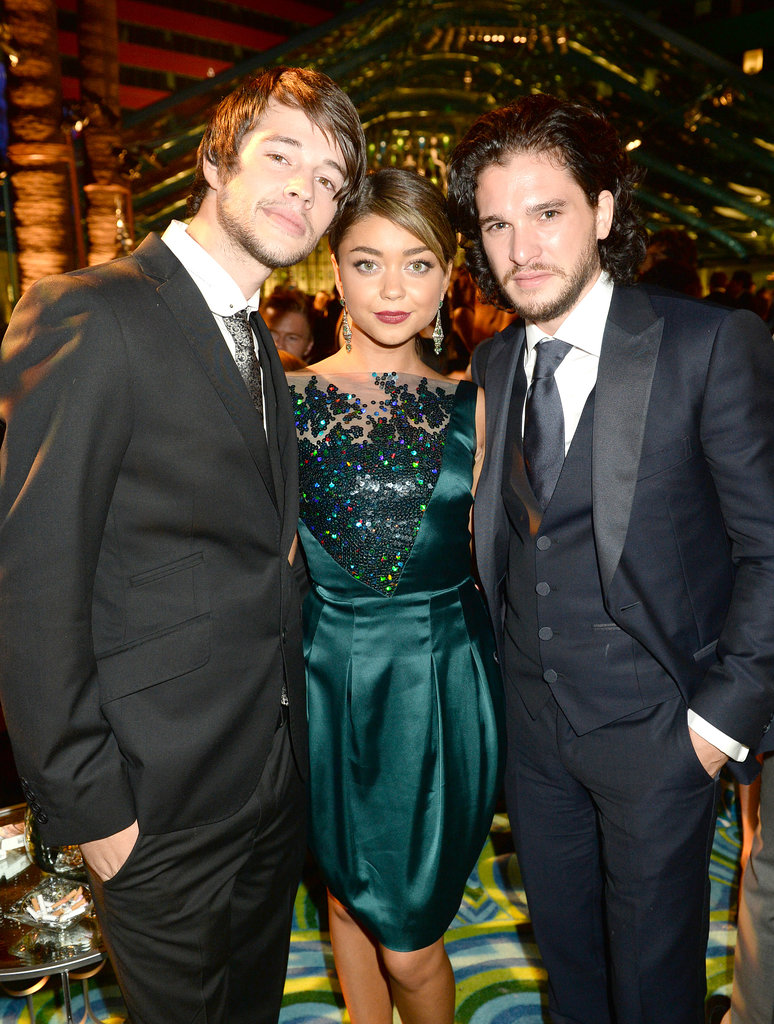 Matt Prokop, Sarah Hyland, and Kit Harington met up at the 2013 HBO Emmys afterparty.