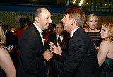 Veep's Tony Hale chatted with former 30 Rock star Jack McBrayer at the 2013 HBO Emmys afterparty.