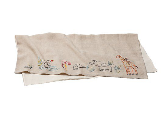 Sweet embroidered animals make Coyuchi's Linen Receiving Blanket ($144) an extra-special selection.