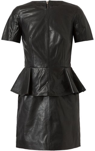 Mcq By Alexander Mcqueen Leather Peplum Dress