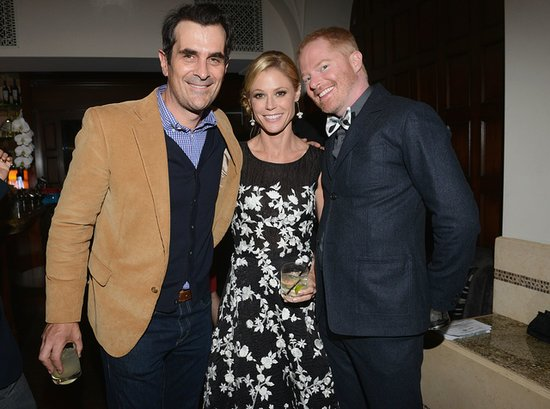 Ty Burrell and Jesse Tyler Ferguson enjoyed Ciroc beverages while chatting with Julie Bowen.
