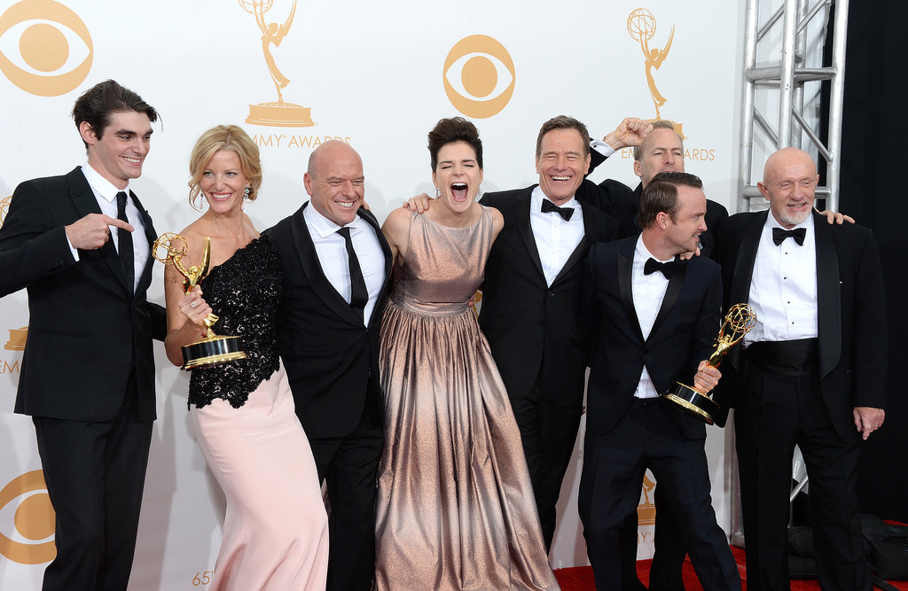 The Breaking Bad cast members were excited about their Emmy.