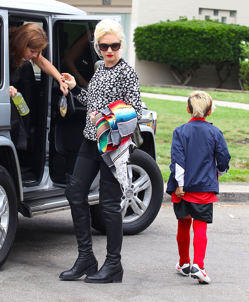 Pregnant or Not, Gwen Stefani Makes Watching Soccer Look Chic