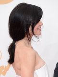 Julianna Margulies went with a low-slung ponytail to complement her strapless gown.