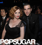 Christina Hendricks and Zachary Quinto made an attractive pair while posing together in the Emmys audience.